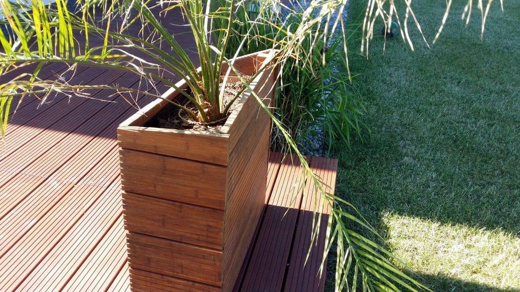 Holz-Pflanzgefäß Cursivo