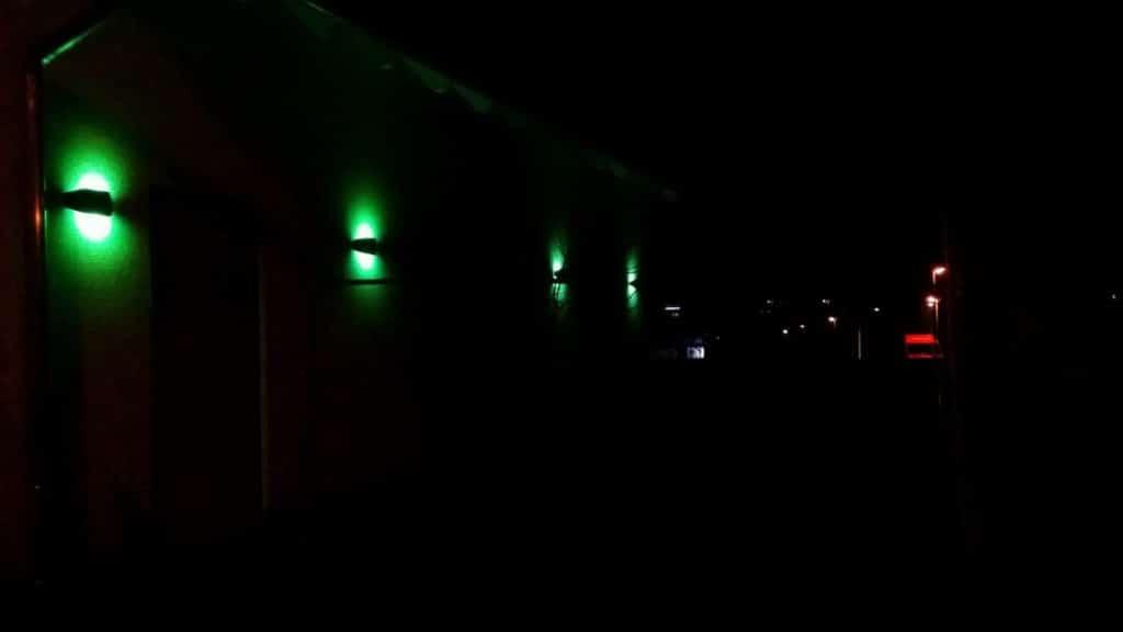 Bomschtown leuchtet grün