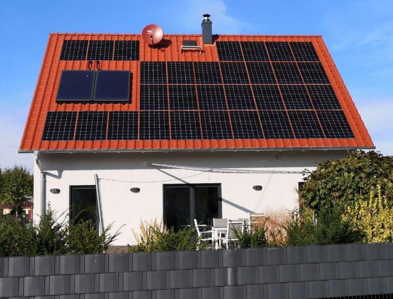 Planungsbild der Photovoltaikanlage