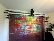 Foto-Hintergrund-System im Arbeitszimmer